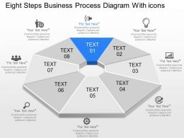 lf Eight Steps Business Process Diagram With Icons Powerpoint Template
