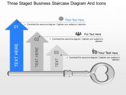 lf Three Staged Business Staircase Diagram And Icons Powerpoint Template