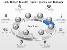 Lg Eight Staged Circular Puzzle Process Icon Diagram Powerpoint Template Slide