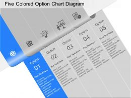 lg Five Colored Option Chart Diagram Powerpoint Template