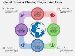 lg Global Business Planning Diagram And Icons Flat Powerpoint Design