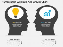 lg Human Brain With Bulb And Growth Chart Flat Powerpoint Design