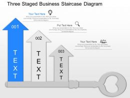 lg Three Staged Business Staircase Diagram Powerpoint Template