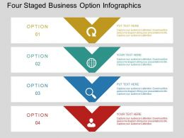 Lh Four Staged Business Option Infographics Flat Powerpoint Design
