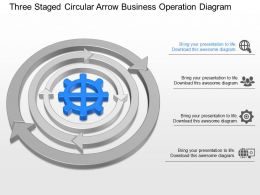 lh Three Staged Circular Arrow Business Operation Diagram Powerpoint Template