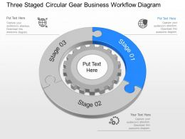 li Three Staged Circular Gear Business Workflow Diagram Powerpoint Template