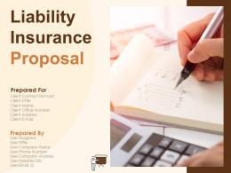Liability Insurance Proposal Powerpoint Presentation Slides