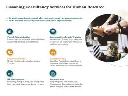 Liasoning Consultancy Services For Human Resource Ppt Powerpoint Professional