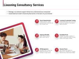 Liasoning Consultancy Services Ppt Powerpoint Presentation Outline Pictures