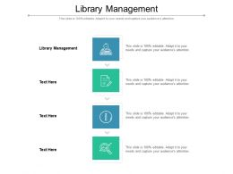 Library Management Ppt Powerpoint Presentation File Outline Cpb