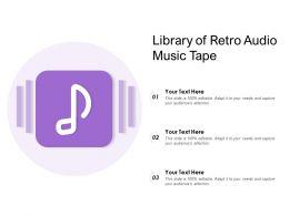 Library Of Retro Audio Music Tape
