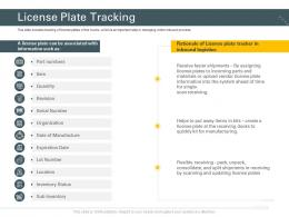 License Plate Tracking Trucking Company Ppt Structure