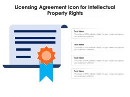 Licensing Agreement Icon For Intellectual Property Rights