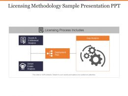 Licensing Methodology Sample Presentation Ppt