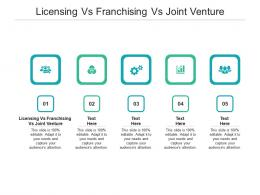 Licensing Vs Franchising Vs Joint Venture Ppt Powerpoint Presentation Pictures Design Inspiration Cpb