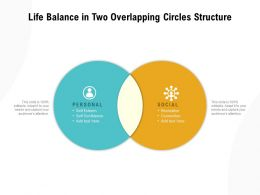 Life Balance In Two Overlapping Circles Structure