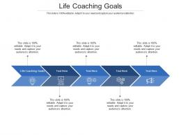 Life Coaching Goals Ppt Powerpoint Presentation Infographic Template Icon Cpb