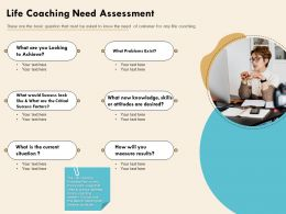 Life Coaching Need Assessment Coaching Acheive Ppt Powerpoint Presentation Graphics