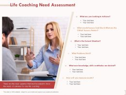 Life Coaching Need Assessment Current Situation Ppt Powerpoint Presentation Templates