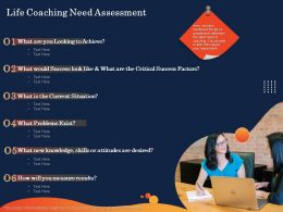 Life Coaching Need Assessment Measure Results Ppt Powerpoint Presentation Templates