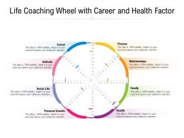 Life Coaching Wheel With Career And Health Factor