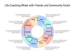 Life Coaching Wheel With Friends And Community Factor