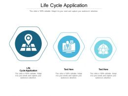 Life Cycle Application Ppt Powerpoint Presentation Outline Templates Cpb
