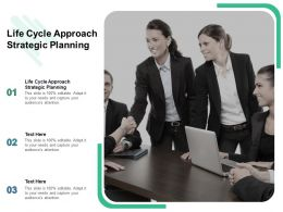 Life Cycle Approach Strategic Planning Ppt Powerpoint Presentation Inspiration Cpb