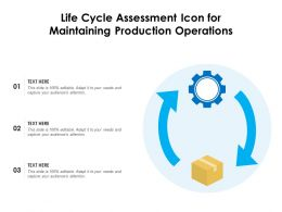 Life Cycle Assessment Icon For Maintaining Production Operations
