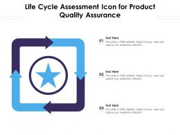 Life Cycle Assessment Icon For Product Quality Assurance
