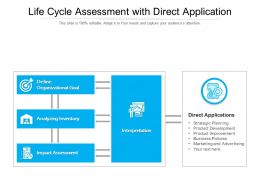 Life Cycle Assessment With Direct Application