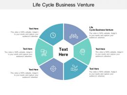 Life Cycle Business Venture Ppt Powerpoint Presentation Ideas Guidelines Cpb
