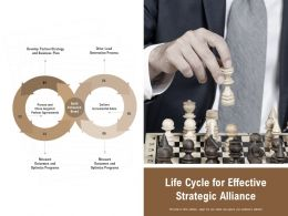 Life Cycle For Effective Strategic Alliance