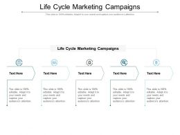Life Cycle Marketing Campaigns Ppt Powerpoint Presentation Professional Icon Cpb