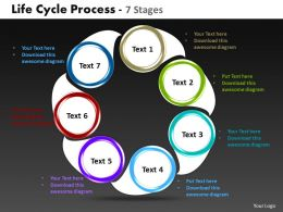 life cycle process 7 stages powerpoint templates graphics slides 0712