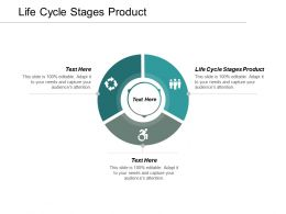 Life Cycle Stages Product Ppt Powerpoint Presentation Infographic Template Information Cpb