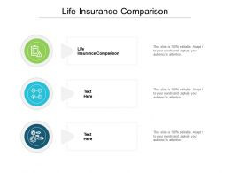 Life Insurance Comparison Ppt Powerpoint Presentation Outline Visual Aids Cpb
