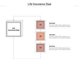 Life Insurance Deal Ppt Powerpoint Presentation Professional Pictures Cpb