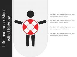 Life Insurance Man With Lifebuoy