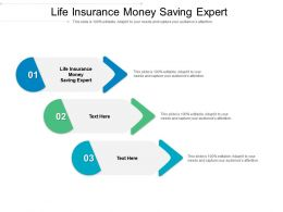 Life Insurance Money Saving Expert Ppt Powerpoint Presentation Pictures Tips Cpb