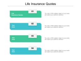 Life Insurance Quotes Ppt Powerpoint Presentation Styles Skills Cpb