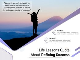 Life Lessons Quote About Defining Success