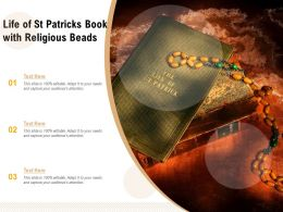Life Of St Patricks Book With Religious Beads
