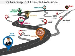 Life Roadmap Ppt Example Professional