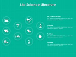 Life Science Literature Ppt Powerpoint Presentation File Images