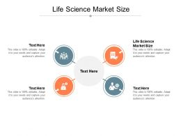 Life Science Market Size Ppt Powerpoint Presentation Styles Layout Cpb