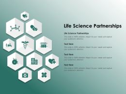 Life Science Partnerships Ppt Powerpoint Presentation Inspiration Example