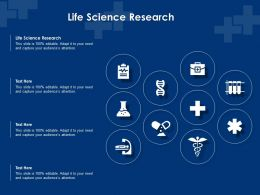 Life Science Research Ppt Powerpoint Presentation Infographic Template Portfolio