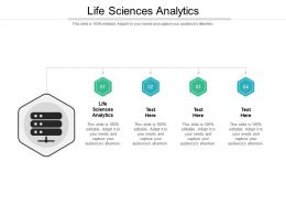 Life Sciences Analytics Ppt Powerpoint Presentation Pictures Objects Cpb