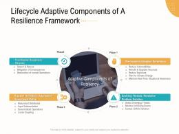 Lifecycle Adaptive Components Of A Resilience Framework Business Operations Analysis Examples Ppt Structure